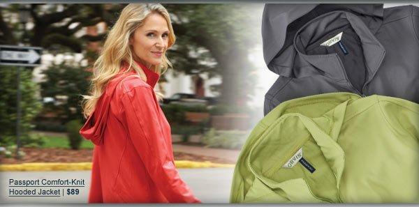 Passport Comfort-Knit Hooded Jacket | $89