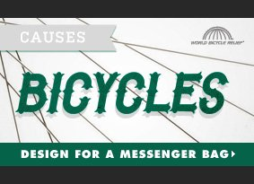 CAUSES - Bicycles Challenge - Design for a messenger bag