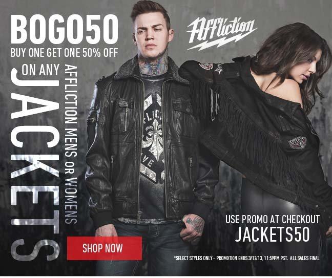 Buy One Jacket, Get One 50% Off!