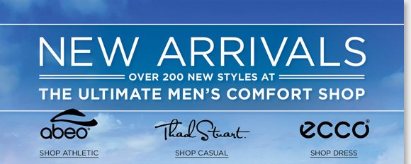Shop premium footwear from ABEO, Thad Stuart, ECCO and more of your favorite brands for him and find the ultimate spring styles! From dress styles for work, to casual styles for play, we have everything you need from the ultimate men's comfort shop. Find the best selection now online and in-stores at The Walking Company.