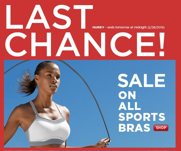 SHOP Sports Bras SALE