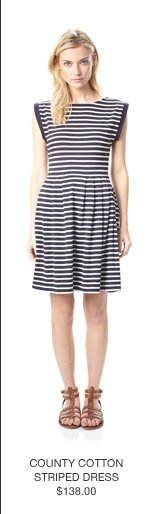 County Cottom Striped Dress