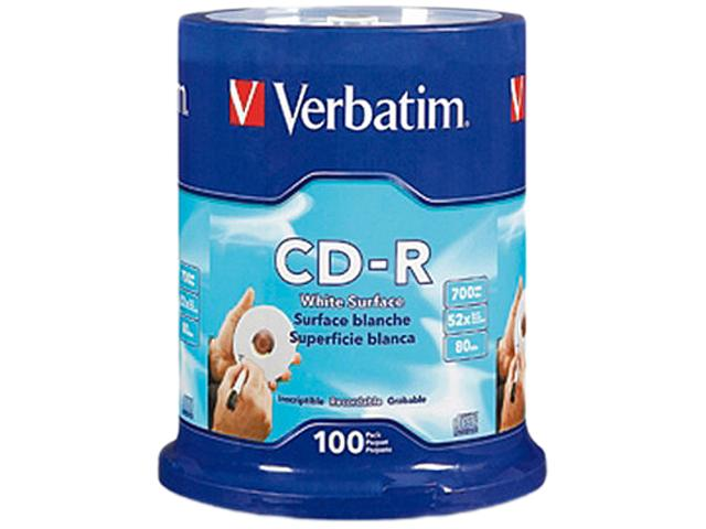 Verbatim 700MB 52X CD-R 100 Packs Spindle Disc Model 94712