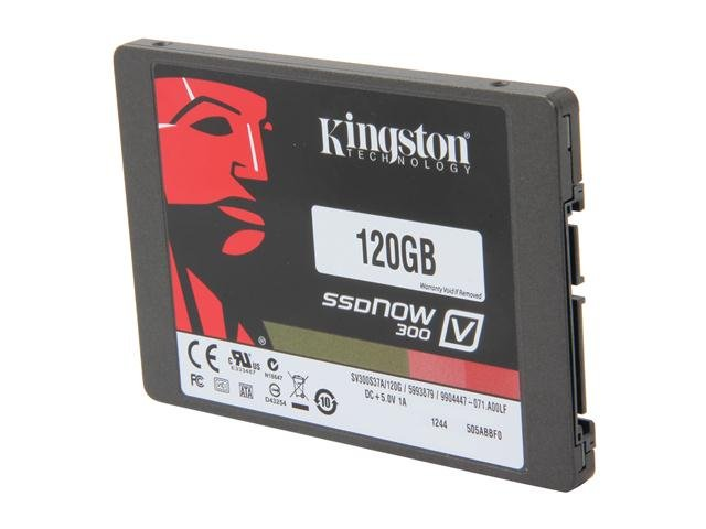 Kingston SSDNow V300 Series SV300S37A/120G 2.5 inch 120GB SATA III Internal Solid State Drive (SSD)