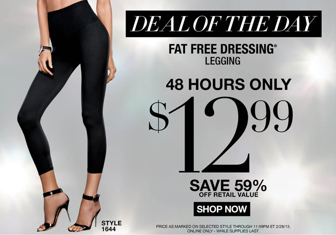 DEAL OF THE DAY: Flexees Fat Free Dressing Legging is 12.99! 48 Hours Only - Save 59% Off Retail Value