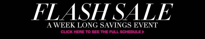 Flash Sale: A Week Long Savings Event