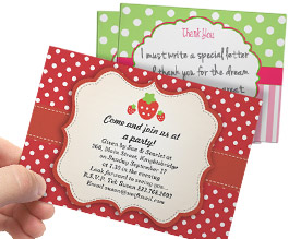 Sweet! 27% Off Strawberry Invites