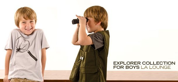 EXPLORER COLLECTION FOR BOYS: LA LOUNGE, Event Ends March 4, 9:00 AM PT >