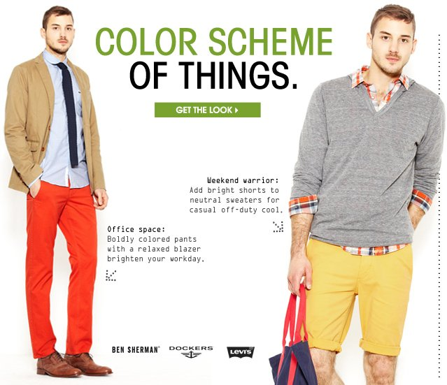 COLOR SCHEME OF THINGS. GET THE LOOK.