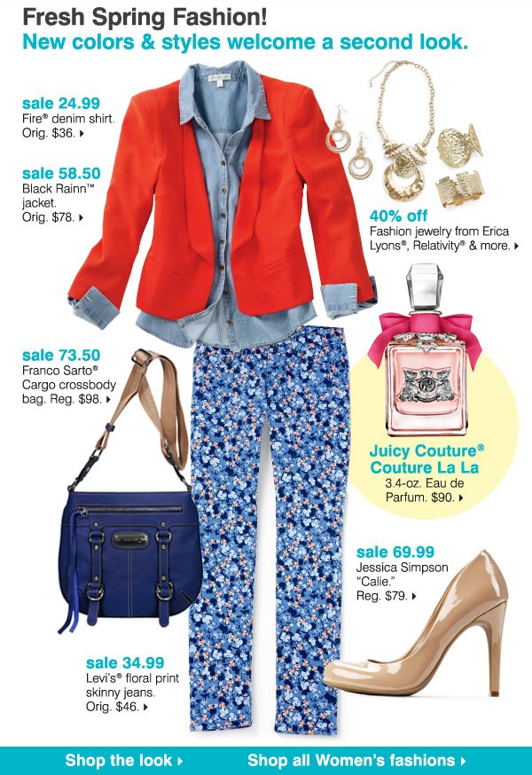 Fresh Spring Fashion! New colors & styles welcome a second look. Shop the look
