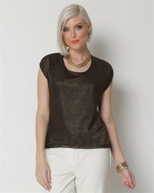 Vince Camuto Metallic Blouse $39