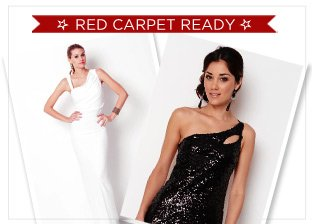 Red Carpet Ready Dresses by Shail K, Nicole Miller, Herve Leger & More