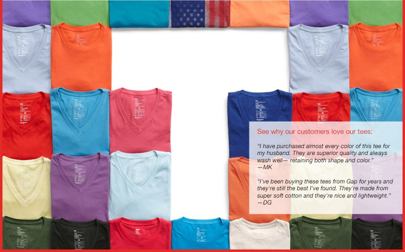 See why our customers love our tees