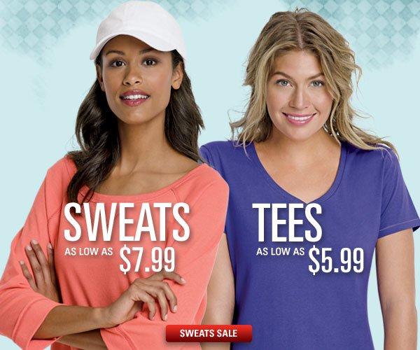 Sweats as low as $7.99