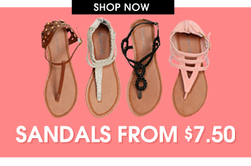 Sandals From $7.50