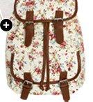 Shop Floral Leather Trim Backpack