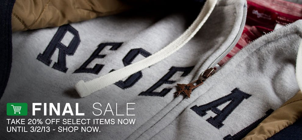 FINAL SALE - 20% OFF SELECT ITEMS
