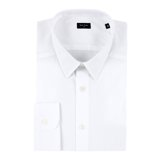 Paul Smith Shirts - White Concealed Floral Print Trim Shirt