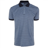 Paul Smith Polo Shirts - Sky Blue Striped Polo Shirt