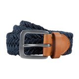 Paul Smith Belts - Navy Waxed Webbing Belt