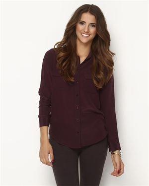 Dex Buttoned Silk Blouse $52