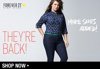 Forever 21 Plus: Back in Stock - Shop Now