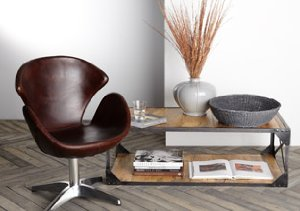 Mod Home: Leather & Metal Furnishings