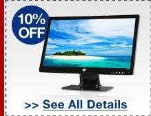 10% OFF SELECT HP MONITORS!*