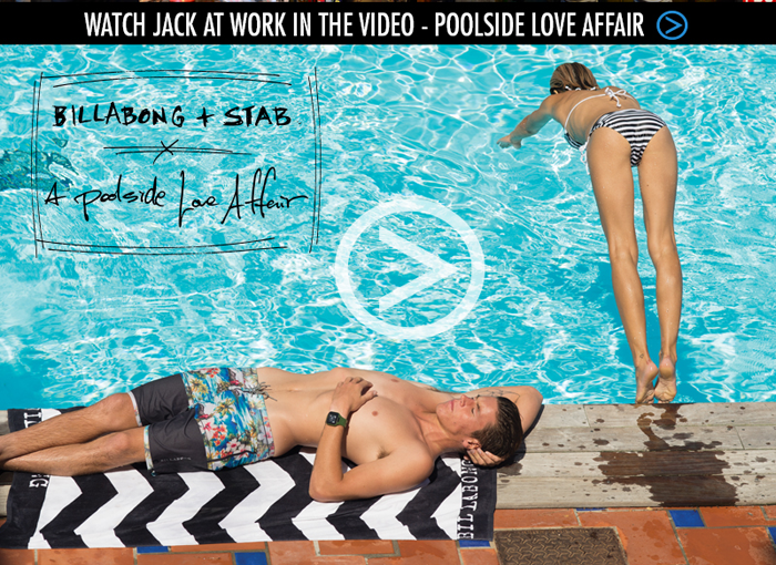 Watch Jack at work in the video - Poolside Love Affair