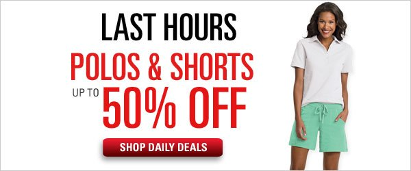 50% off Polos & Shorts