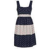Paul Smith Dresses - Navy Jacquard Polka Dot Dress