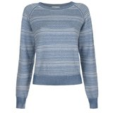 Paul Smith Knitwear - Blue And White Braided Crew Neck Jumper