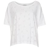 Paul Smith T-Shirts - White Devore Pattern T-Shirt