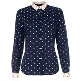 Paul Smith Shirts - Navy Jacquard Polka Dot Shirt