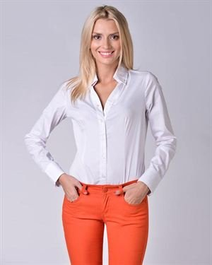 Cristina Dea Button Down Solid Color Body Shirt Made In Italy