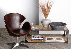 Mod Home: Leather & Metal Furnishings
