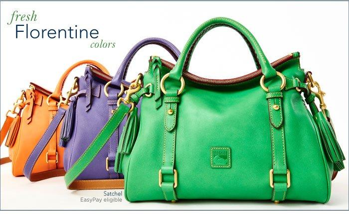 Fresh Florentine colors now on dooney.com