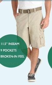 •11.5 INSEAM • 9 POCKETS • BROKEN-IN FEEL
