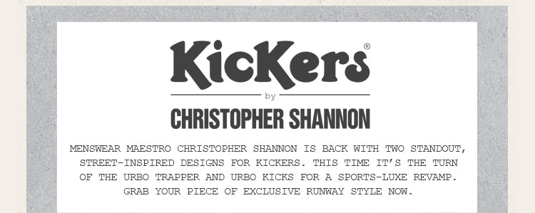 Kickers by Christopher Shannon