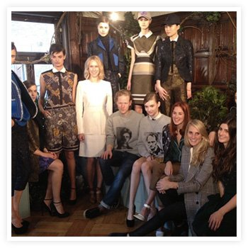 Indre at the London presentation of the Ostwald Helgason Fall 2013 collection, hosted by Moda Operandi.