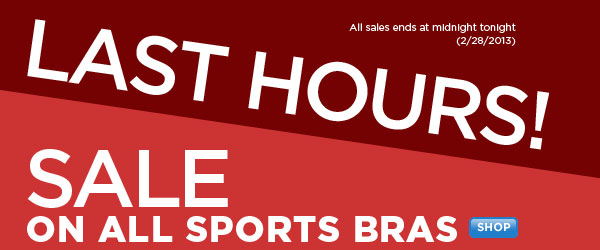 SHOP Sports Bras SALE
