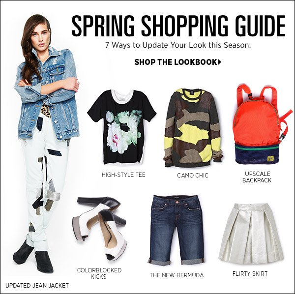 Update your wardrobe with 7 season-defining pieces! See our top picks for spring and how to wear them in our latest lookbook. Shop spring's top 7 items >>