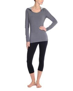 Interlaced Hoodie Tunic