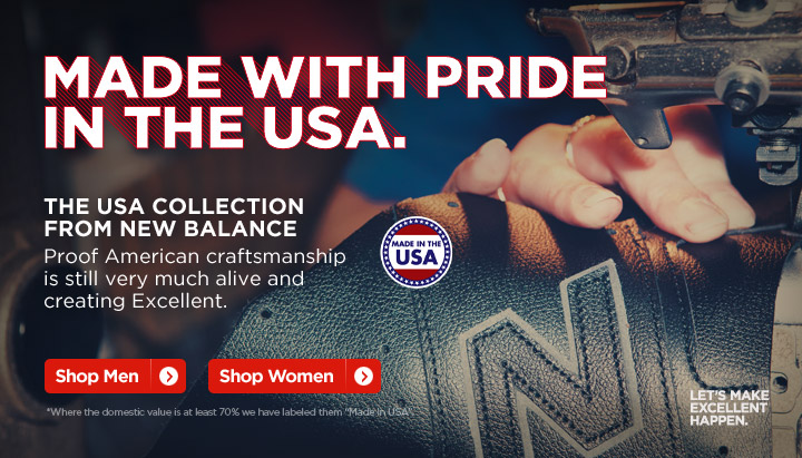 Made with Pride in the USA - The USA Collection from New Balance