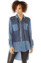 The Denim Block Shirt in Blue