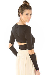 The Blaine Cut Out Top in Black