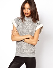 ASOS Sweatshirt with Lace Effect Print