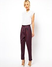 ASOS TrouserS in Boating Stripe