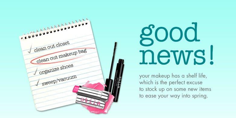 good news! spring cleaning and treat yourself
