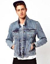 ASOS Denim Jacket With Acid Wash